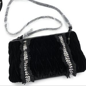 Sam Edelman Smocked Velvet Clutch